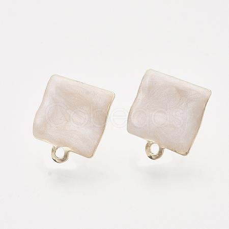 Iron Enamel Stud Earring FindingsX-IFIN-N003-15E-1