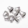 Antique Silver Tone Alloy Tibetan Silver Necklace End Tip Bead CapsX-LF1282Y-1