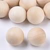 Natural Wooden Round BallWOOD-T014-25mm-1