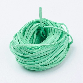 Eco-Friendly Faux Suede Cord, Faux Suede Lace, Aquamarine, 3x1mm
