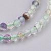 Natural Fluorite Beads StrandsG-F568-134-2mm-3