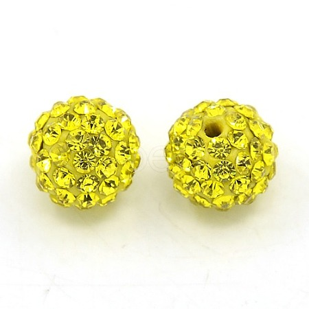 Grade A Rhinestone Polymer Clay Pave Disco Ball Beads for Bling Jewelry MakingX-RB-H258-10MM-249-1