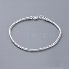 Unisex Brass Snake Chain Bracelets BJEW-BB12548