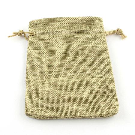 Burlap Packing Pouches Drawstring BagsX-ABAG-R005-14x10-01-1