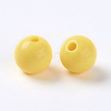 Opaque Acrylic BeadsX-PAB704Y-4-2