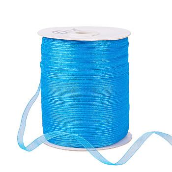 Organza Ribbon, Dark Turquoise, 1/4 inch(6mm); 500yards/Roll(457.2m/Roll)