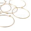 Jewelry Findings Golden Plated Brass Earring HoopsX-EC067-6NFG-3