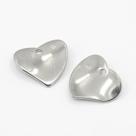304 Stainless Steel Heart Charms X-STAS-M004-02-1