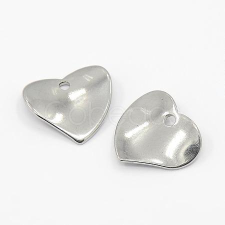 304 Stainless Steel Heart CharmsX-STAS-M004-02-1