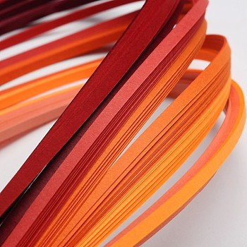 6 Colors Quilling Paper Strips, Gradual Red, 390x3mm; about 120strips/bag, 20strips/color