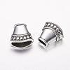 Antique Silver Tone Alloy Tibetan Silver Necklace End Tip Bead CapsX-LF1282Y-2