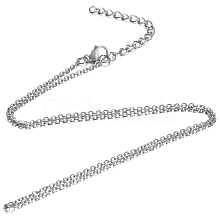 304 Stainless Steel Cable Chain Necklace STAS-T040-PJ204-50