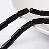 Black Glass Tube Beads StrandsX-GST13-1