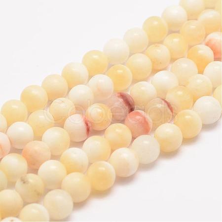 Natural Honey Jade Bead StrandsG-K153-B26-4mm-1