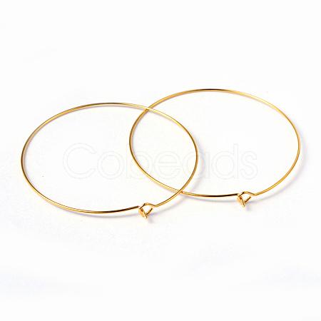 Jewelry Findings Golden Plated Brass Earring HoopsX-EC067-6NFG-1
