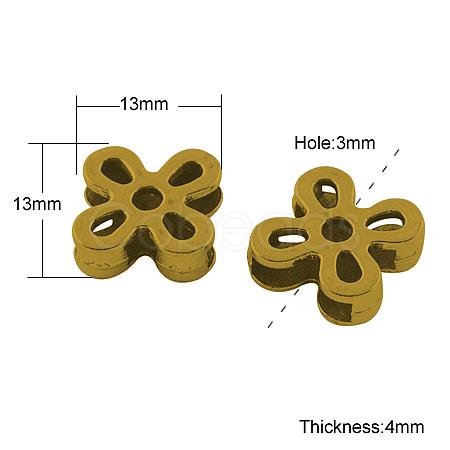 Tibetan Style Slide CharmsX-TIBE-A134958-AG-FF-1
