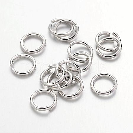 Platinum Plated Brass Round Open Jump Rings for Jewelry DIYX-JRC7mm-NF-1