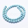 Natural Howlite Beads StrandsX-G-K244-02-8mm-01-2