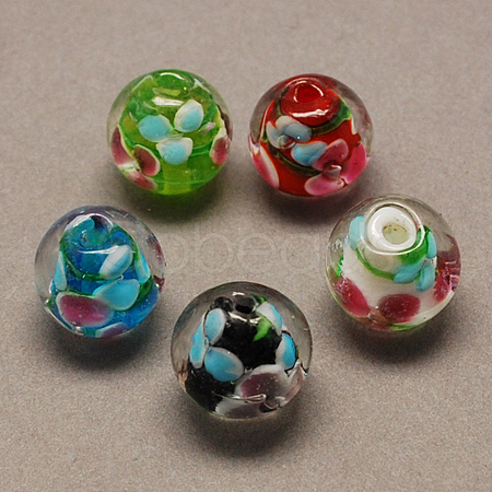 Handmade Lampwork Beads X-LAMP-R103-10mm-M-1