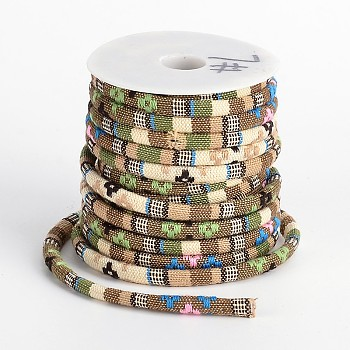 Ethnic Cord Polyester Cords, Colorful, 7x5mm, 10yards/roll