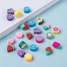 Handmade Polymer Clay Fruit Theme Beads CLAY-Q215-01