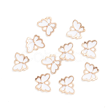 Light Gold Plated Alloy Enamel Charms X-ENAM-WH0047-41A