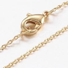 Brass Chain Necklaces Making X-MAK-L009-03G