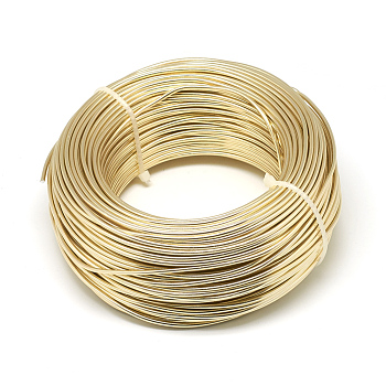 Aluminum Wire, Bendable Metal Craft Wire, for DIY Jewelry Craft Making, Champagne Yellow, 6 Gauge, 4mm; 16m/500g(52.4 Feet/500g)