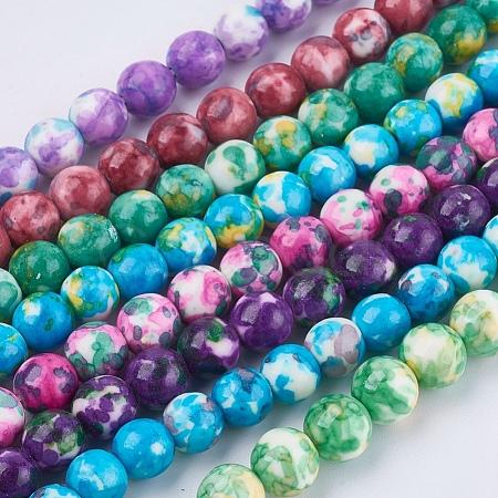 Synthetic Ocean White Jade Beads StrandsG-L019-8mm-M-1