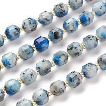Natural K2 Stone/Raindrop Azurite Beads Strands G-K303-A29-8mm