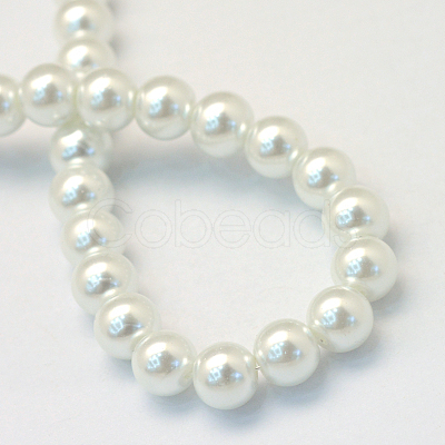 Baking Painted Glass Pearl Bead Strands X-HY-Q003-3mm-01-1