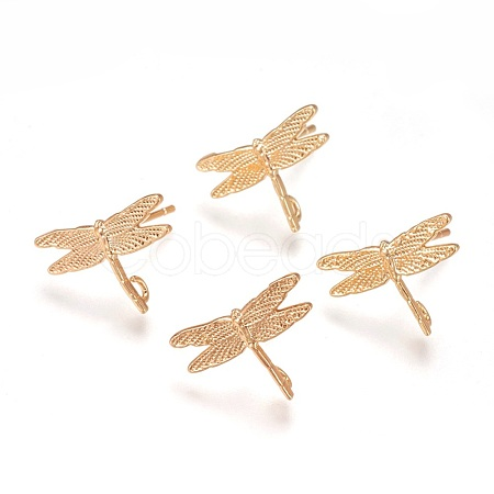 Brass Stud Earring FindingsX-KK-Q735-142G-1