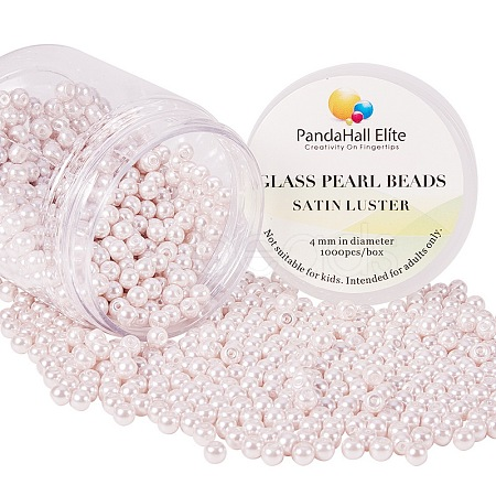 Pearlized Environmental Dyed Glass Pearl Round BeadsHY-PH0002-02-1-B-1