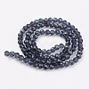 Faceted Round Glass Beads Strands X-EGLA-J042-4mm-03-2